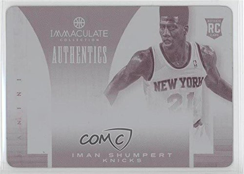 2013 Authentic Collection - Iman Shumpert #1/1 (Basketball Card) 2012-13 Panini Immaculate Collection - Authentics - 2013-14 National Treasures Printing Plate Magenta #48