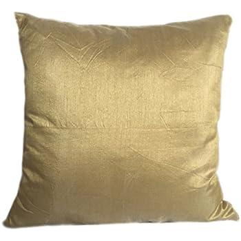 Amazon.com: Artiwa Solid Yellow Gold Silk Sofa Decorative