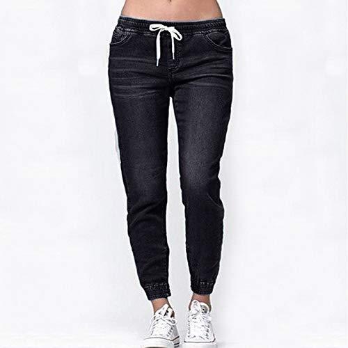 Flojo Mujer OtoñO Rawdah Cortos Casual Denim Tallas Jeans para De Tallas EláStico MáS Mujer De Grandes Pantalones Mujer Grandes AdemáS De Negro Lazo Vaqueros wxwq5CYZ