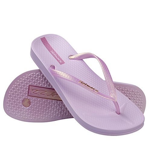 Hotmarzz Chanclas para Mujer Slim Flip Flops Sandalias Verano Playa Piscina Zapatos Morado