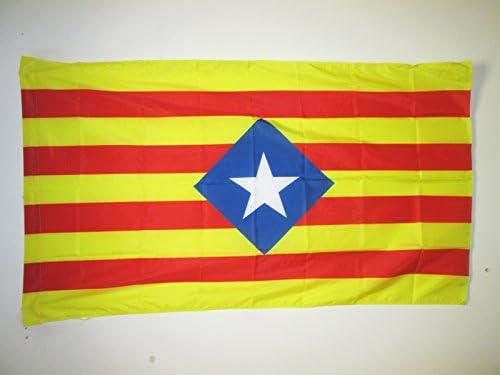 AZ FLAG Bandera de CATALUÑA ESTELADA BLAVA HISTORICA 90x60cm para Palo - Bandera CATALANA INDEPENDENTISTA – Catalunya 60 x 90 cm: Amazon.es: Jardín