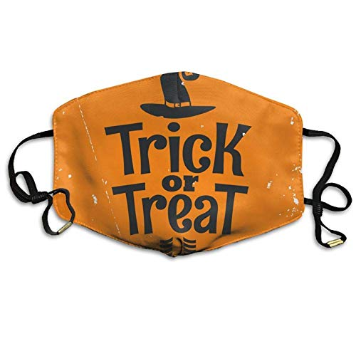 colory Unisex Trick Treat Halloween Witch Lettering Anti-dust Flu Masks Mouth Face Mask