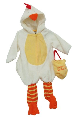 Rooster Cock A Doodle Doo Baby Bag Hat And Zip Up Bodysuit Costume Two Piece (Doodle Costume)