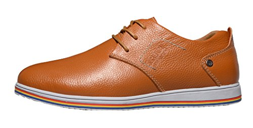Guciheaven Mens 2015 New British Style Low Top Lace-up Casual Leather Shoes(10 D(M)US, Tan)