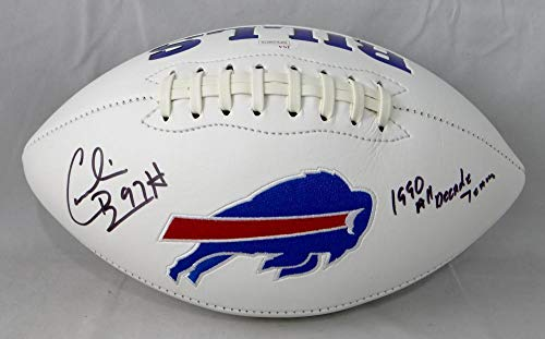 Cornelius Bennett Autographed Football - Logo w Insc W Auth - JSA Certified - Autographed Footballs (Autographed Football Bennett)