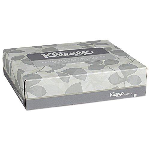 Kleenex 21195 White Facial Tissue, 2-Ply, 40 Tissues/Box, 80 Boxes/Carton