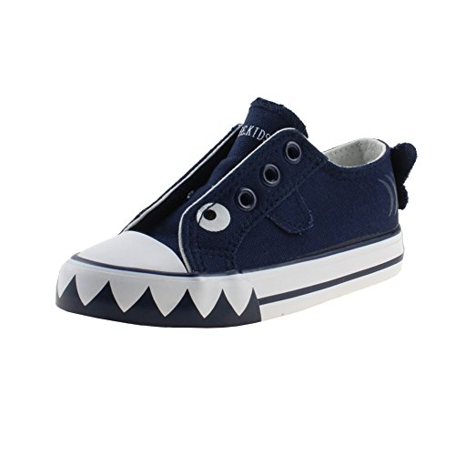 navas Shoes Lace Up Sneakers, Dark Blue, Size 4, Toddler ()