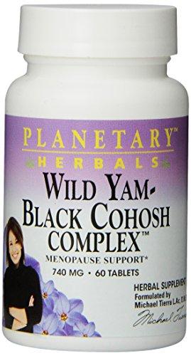 Планетарные Herbals Wild Yam-Black Cohosh Комплексные Таблетки, 60 граф