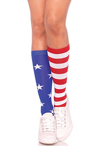 Leg Avenue Womens Stars and Stripes Knee Socks
