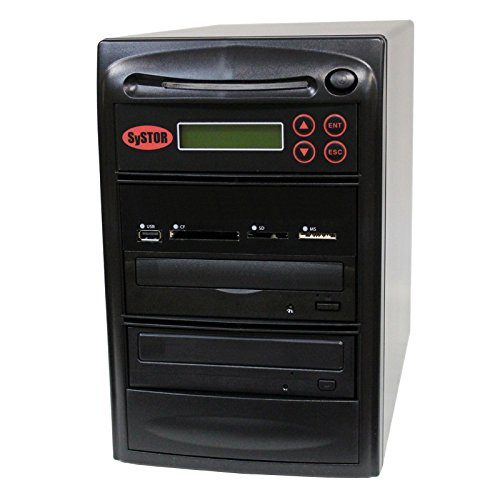SySTOR All-in-One Multi-Media Flash Memory Back-up USB/SD/CF/MS/MMC to 1-1 CD DVD Duplicator