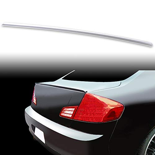 FYRALIP Painted Factory Print Code Trunk Lip Wing Spoiler For 2003-2006 Infiniti G35 G35x Sedan Third Generation Fast Delivery Easy Installation Perfect Fit - WV2 Silverstone Metallic