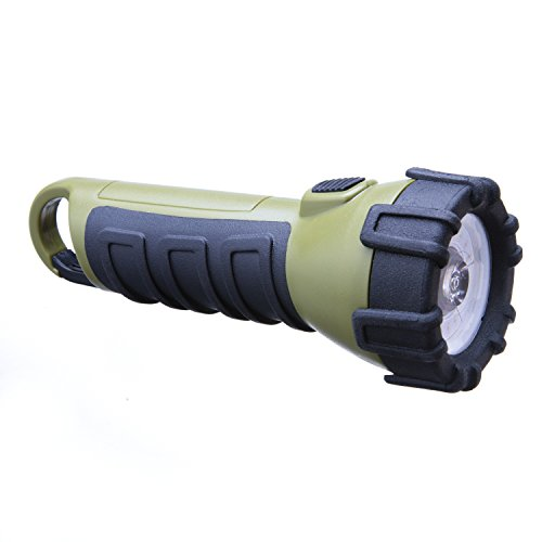 Dorcy 100 Lumen LED Floating Waterproof Flashlight with Carabiner Clip, Tri-Color Red, Green and White LEDs