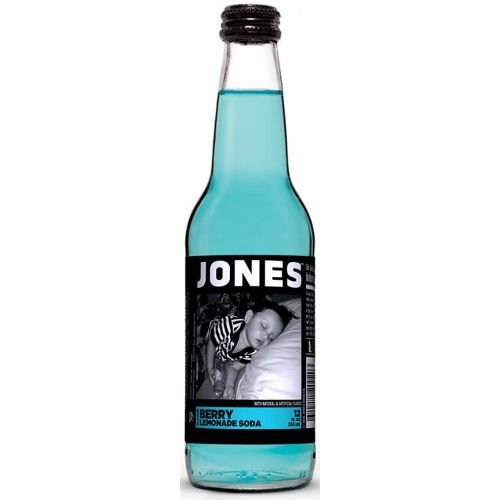 Jones Berry Lemonade Soda, 12 Ounce (24 Glass Bottles)