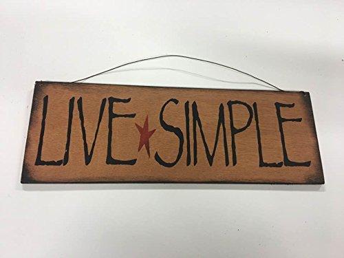 Sign decor Live Simple barn star country home decor wooden wall art - Barn Wood Decor