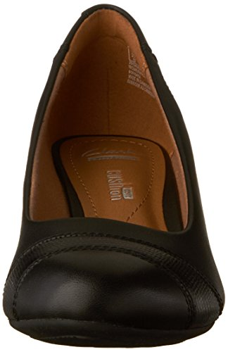 CLARKS Women's Brielle Tacha Wedge Pump Black Leather discount best wholesale clearance eastbay 12jqi4