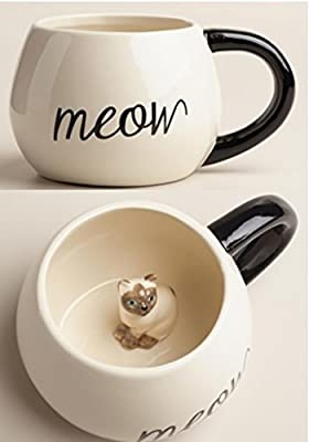 World Market Surprise Animal Mug – Comes with a Meow Little Kitten Inside | Novelty Coffee Mug for Coffee & Cat Lovers | Hot & Cold, Tea, Milk, Coffee by World Market