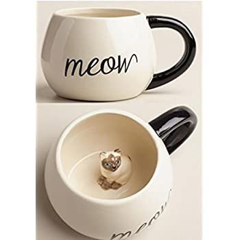 Surprise Cat Coffee Mug with Baby Cat Inside - 17 Oz by World Market