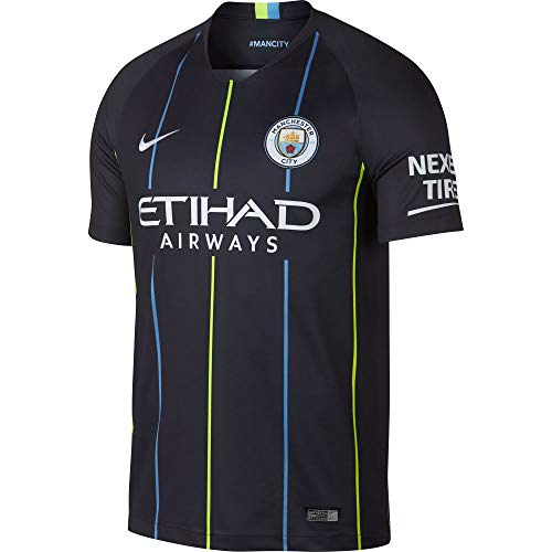- NIKE 2018-2019 Youth Manchester City FC Away Stadium Jersey (Dark Obsidian) (YL)