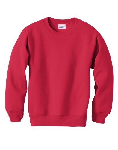 Hanes Red Sweatshirt (Hanes Youth 7.8 oz 50/50 Crewneck Sweatshirt in Deep Red - Medium (10/12))