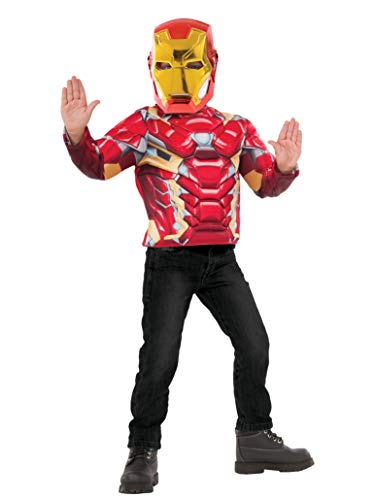 Imagine by Rubie's Rubies Boys Iron Man Super Costume Top Set, Red/Gold, One Size