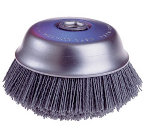 Osborn 32137-4'' Cup Brush with 1-1/2'' Long x Straight 80 Grit Silicon Carbide-Coated Nylon Bristles by Osborn (Image #1)