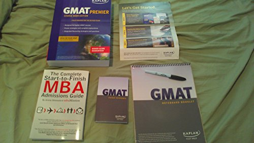 Kaplan GMAT Premier Course Book Edition, Pocket Reference, Noteboard Booklet, & The Complete Start-to-Finish MBA Admissions Guide (by Jeremy Shinewald) (Kaplan GMAT)