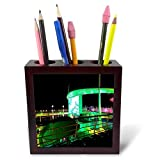 3dRose Cruise Ship Sites - Image of Outdoor Movie Screen On Cruise Ship - 5 inch Tile Pen Holder (ph_290366_1)