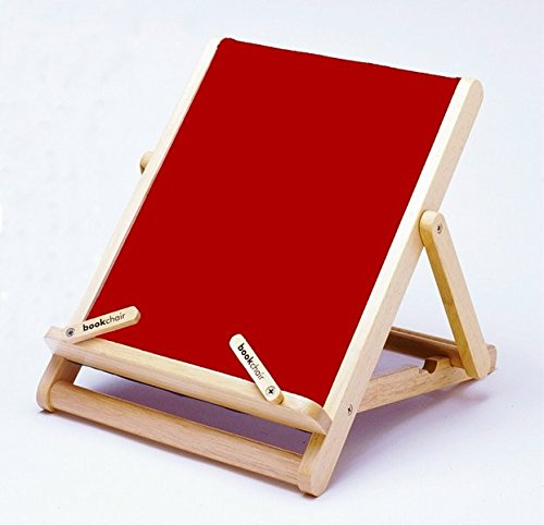 Download Thinking Gifts Bookchair Deluxe Bookholder, Standard, Red, 1 unit (BCD3C) pdf epub