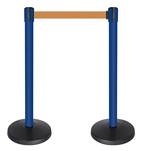 QueueWay PLUS 2 wide blue post 10 length Orange belt QPLUS-23-O5 Set of 2
