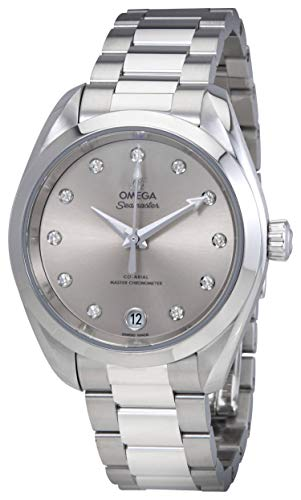 Omega Seamaster Aqua Terra Silver Diamond Dial Ladies Watch 220.10.34.20.60.001