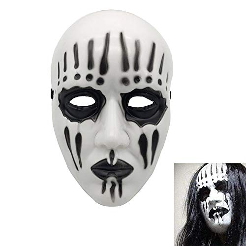 Halloween Theme Party Music (Unisex Funny Cosplay Slipknot Joey Mask, Slipknot Corey Taylor Mask, Full Face Costume Prop Halloween Mask Music Party Theme Fancy Dress Up)