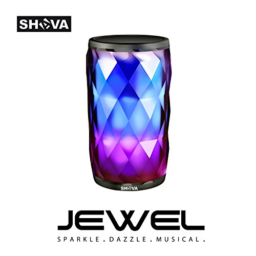 Night Light with Bluetooth Speaker, SHAVA Jewel Portable Wireless Bluetooth Speaker Touch Control Color LED Bedside Table Lamp, Speakerphone / MicroSD Card / AUX-In USB-In Supported (Acrylic Brown)