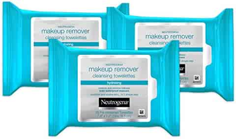 Neutrogena Hydrating Makeup Remover Facial Cleansing Wipes 25 Count (Value Pack of 3)