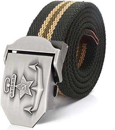 WDYDDW Men'S Belt Men&Women Canvas Belt 3D Soviet Navy Ussr
