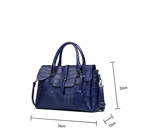 High Blue Leather High Quality Crocodile Quality Handbag 5ZqwBFq