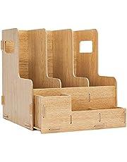 Estante de archivo Marco de archivo de información Plataforma multi-capa de archivo estante de madera Estante de almacenamiento de archivos marco de la barra de escritorio for oficina libro ahorro de