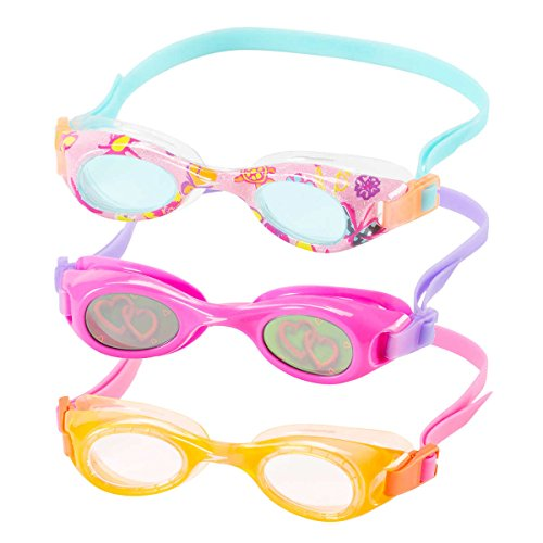 Speedo Kids Swim Goggles Triple Goggle Pack ~ Fun Prints ()