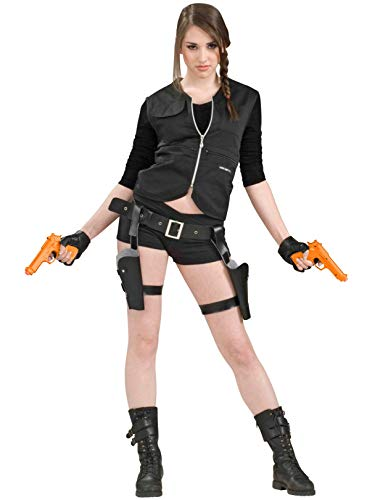 Forum Novelties 62598 Treasure Huntress Tomb Vixen Thigh Holster Set w/Guns Adult Halloween Costume Accessory (XFO16), Standard, Multi, Pack of 1
