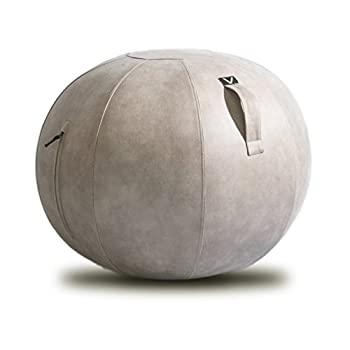 Image of Exercise Ball Chairs Vivora Luno - Sitting Ball Chair for Office and Home, Lightweight Self-Standing Ergonomic Posture Activating Exercise Ball Solution with Handle & Cover, Classroom & Yoga, Max