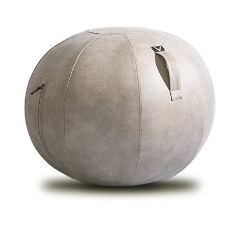 Vivora Luno – Sitting Ball Chair for Office and Home, Lightweight Self-Standing Ergonomic Posture Activating Exercise Ball Solution with Handle Cover, Classroom Yoga