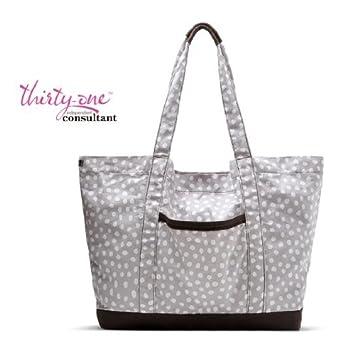 bb93770b12 Amazon.com   Thirty-one Bag XXL Everyday Tote Lotsa Dots 31 RV 65   Cosmetic  Tote Bags   Beauty