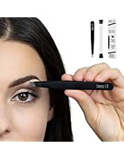 Eyebrow Tweezers| Salon Quality Precision Tweezer, Hand Filed Slanted Tips for Professional Results, Best Precision Engineered Tweezers for Flawless Beauty Results, Perfect For Women and Men