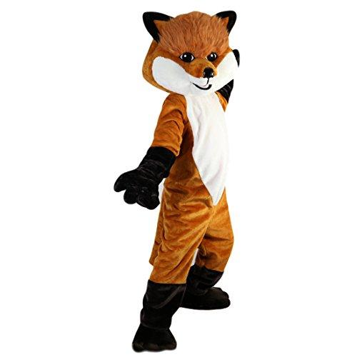 Langteng Brown Fox Cartoon Mascot Costume Real Picture