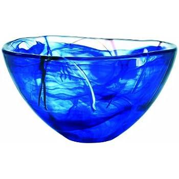 Kosta Boda Contrast Bowl, Blue, Medium