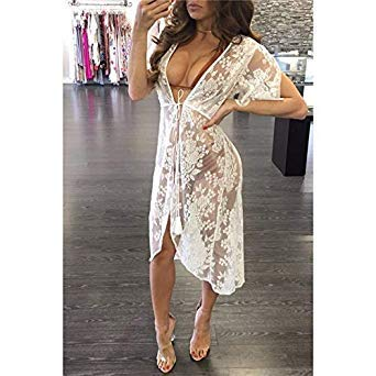 c3bdc3e53d Image Unavailable. Image not available for. Colour  Pareo Beach Cover Up  Floral Embroidery Bikini Swimsuit Cover Ups Robe De Plage Cardigan Swimwear  Bathing