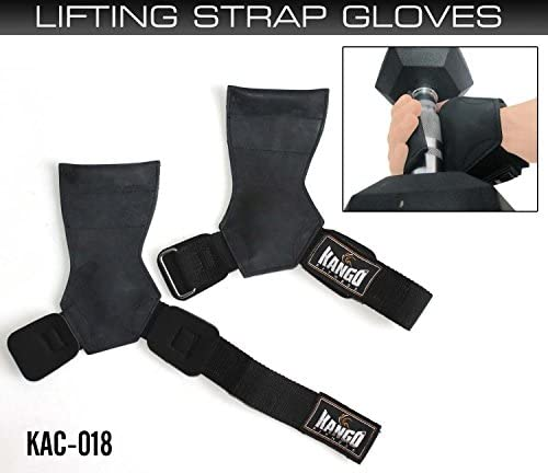 Kango Fintess Pro Weightlifting Straps Power Lifting Hooks Wraps Gym Gloves One Size KAC 018