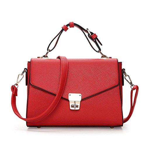 à Sac Lady Unique Multi Mode bandoulière Red Mesdames Sweet carré Sac SHOUTIBAO à Petit Slant Compartiment Sac Main qvHRf8wI