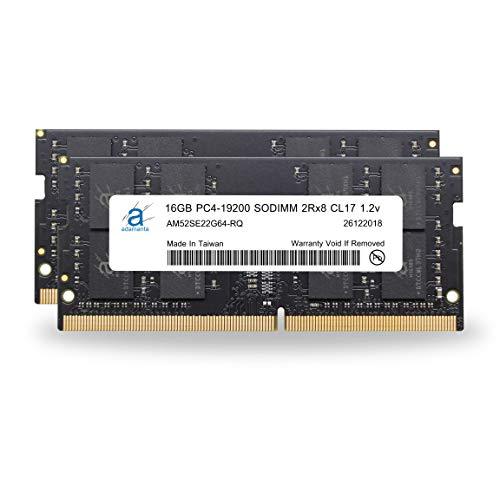 Adamanta 32GB (2x16GB) Memory Upgrade Compatible for 2017 Apple iMac 27 Retina 5K Display DDR4 2400Mhz PC4-19200 SODIMM 2Rx8 CL17 1.2v Dual Rank RAM DRAM