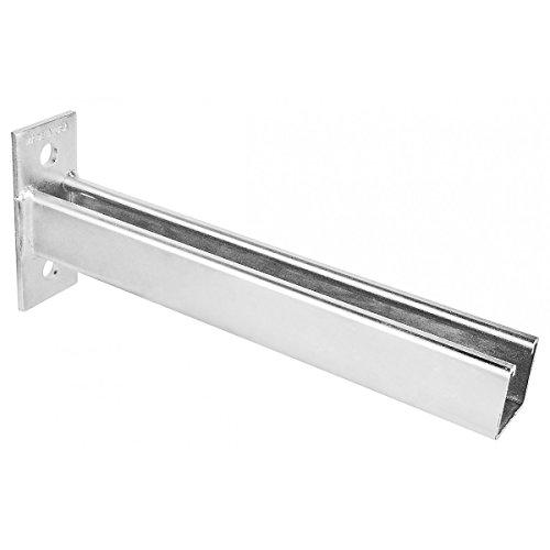 (1 Pc, Zinc Plated Steel Wall Bracket Channel For 1-5/8 In. Strut, 2 Holes, 12 In.)