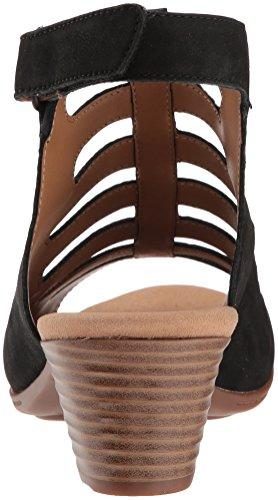 CLARKS Women's Valarie Shelly Heeled Sandal Black Nubuck cheap cheap footlocker finishline discount 100% authentic RUUBHzyJt